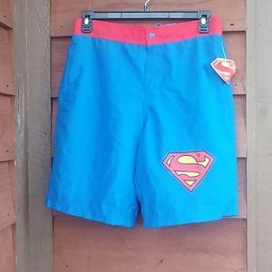 End swimming trunks/shorts NWT Superman Medium